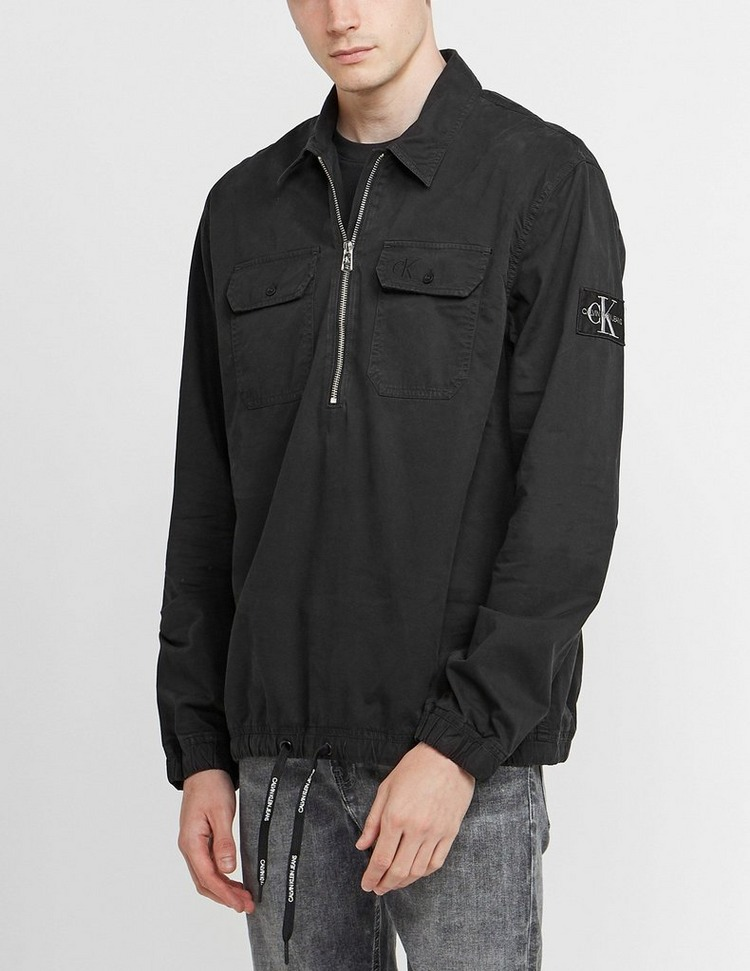 Calvin Klein Jeans Half Zip Long Sleeve Popover Shirt