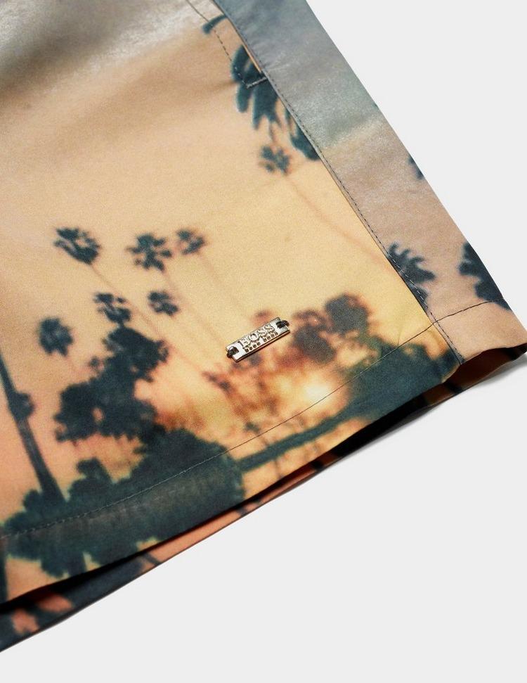 BOSS Springfish Palm Swim Shorts
