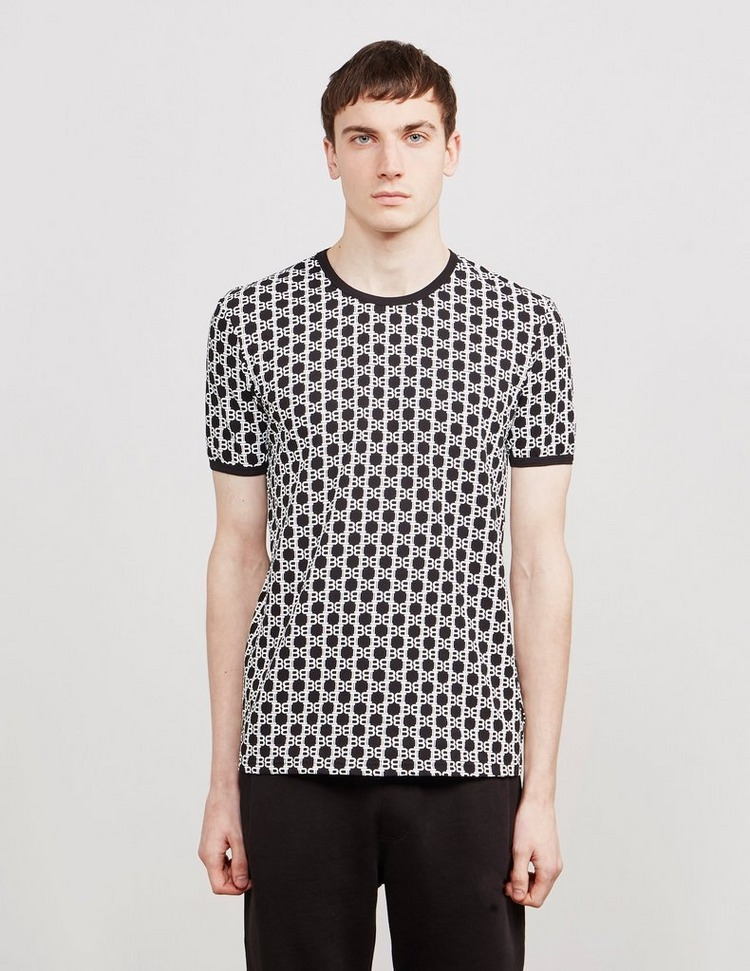 Balmain All Over Print Short Sleeve T-Shirt