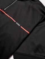 HUGO Zip Neck Short Sleeve Linea Polo Shirt