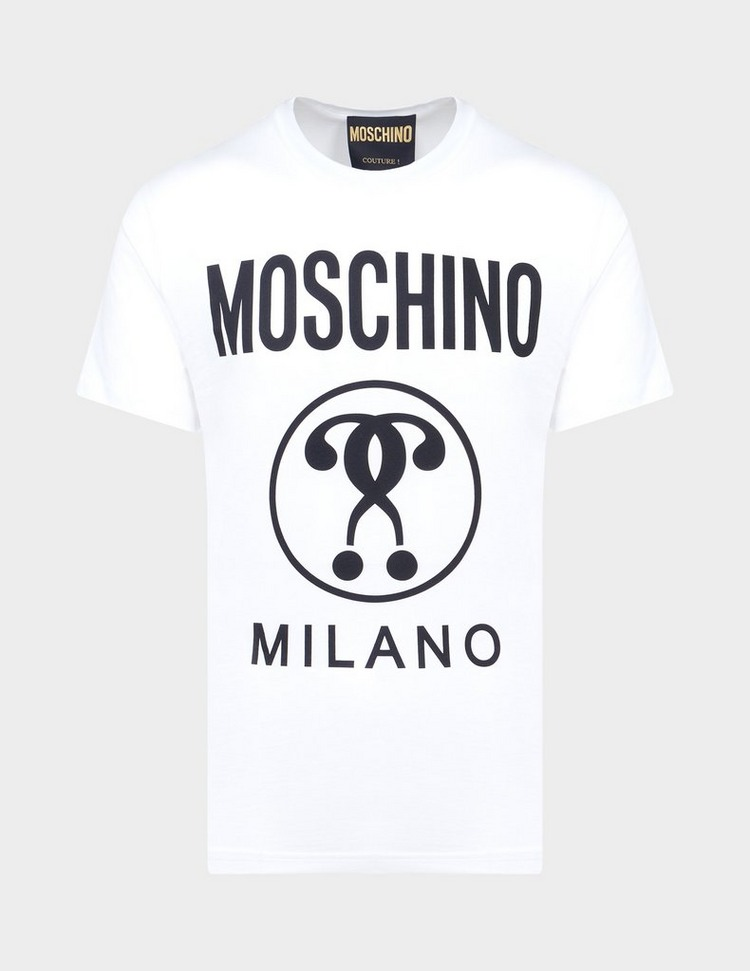Moschino Circle Logo Short Sleeve T-Shirt