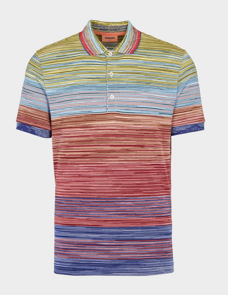 Missoni All Over Dye Short Sleeve Polo Shirt