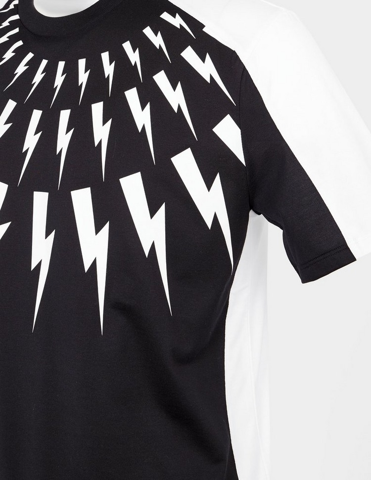 Neil Barrett Bolt Panel Short Sleeve T-Shirt