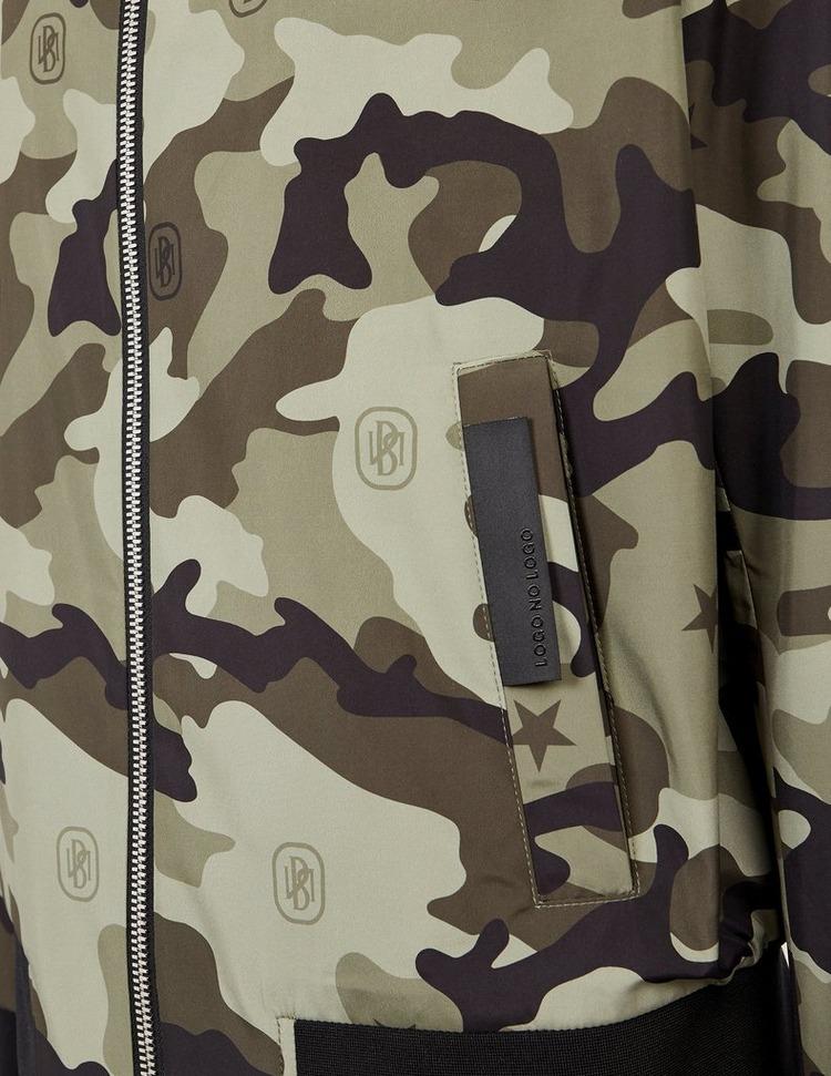 Neil Barrett Bolt Camouflage Reversible Bomber Jacket