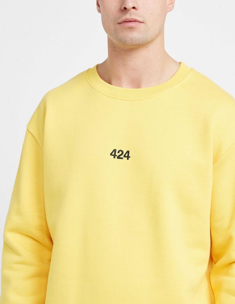 424 Black Embroidered Sweatshirt