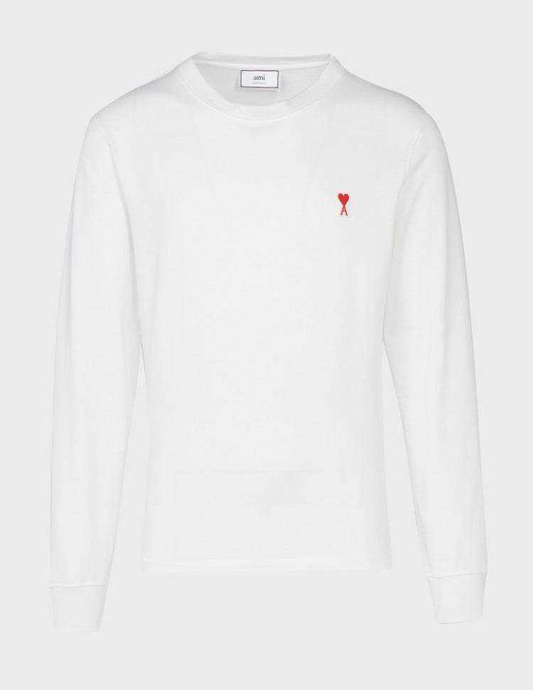 AMI Paris Cuffed Long Sleeve T-Shirt