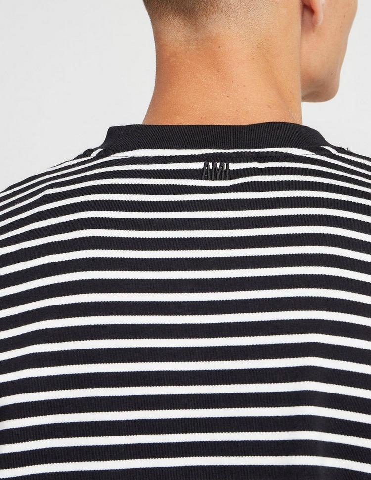 AMI Paris Dual Stripe Short Sleeve T-Shirt
