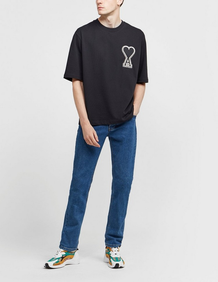 AMI Paris Large Heart Short Sleeve T-Shirt
