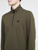 C.P. Company Zip Funnel Neck Long Sleeve Polo Shirt