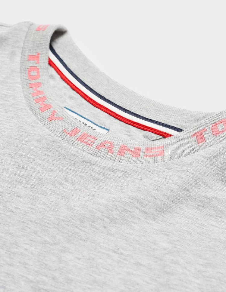 Tommy Jeans Brand Neck Short Sleeve Crop T-Shirt