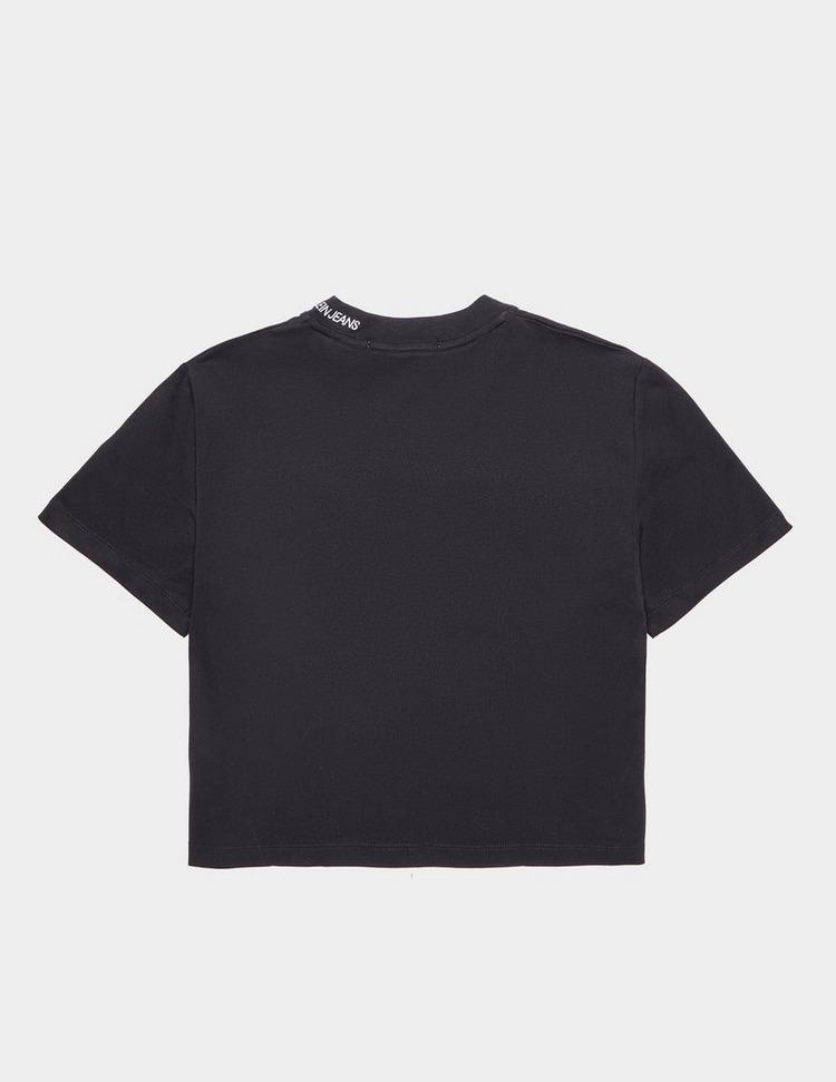 Calvin Klein Jeans Piping Short Sleeve Crop T-Shirt