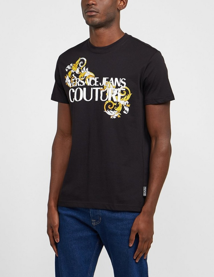 Versace Jeans Couture Baroque Text Logo Short Sleeve T-Shirt