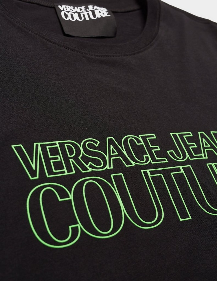 Versace Jeans Couture Neon Text Short Sleeve T-Shirt