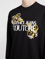 Versace Jeans Couture Baroque Text Logo Sweatshirt