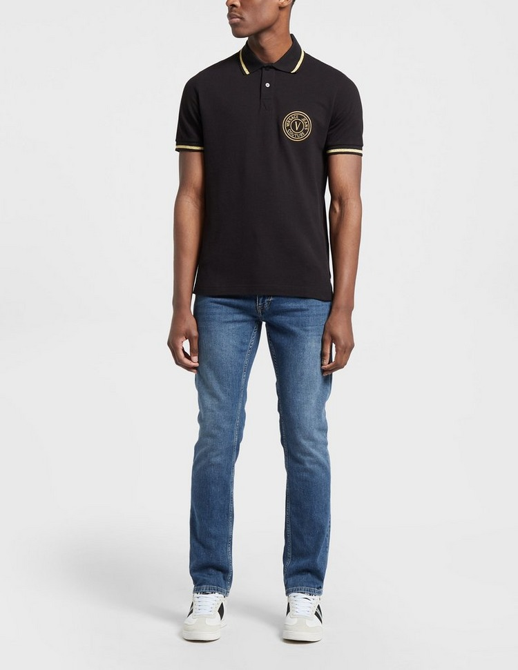 Versace Jeans Couture Medallion Short Sleeve Polo Shirt