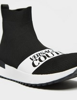 Versace Jeans Couture Stripe Logo Sock Trainers