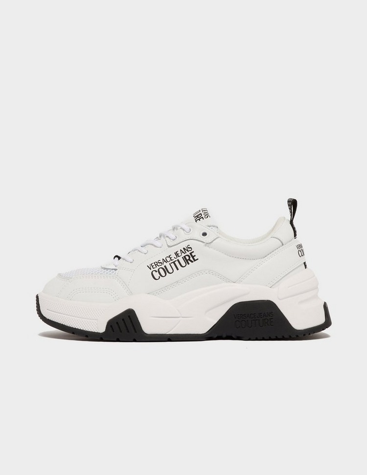 Versace Jeans Couture Logo Leather Runner Trainers