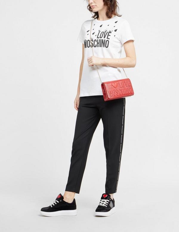 Love Moschino Croc Logo Shoulder Bag