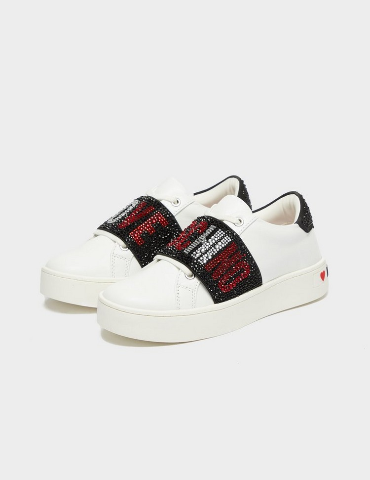 Love Moschino Crystal Strap Trainers