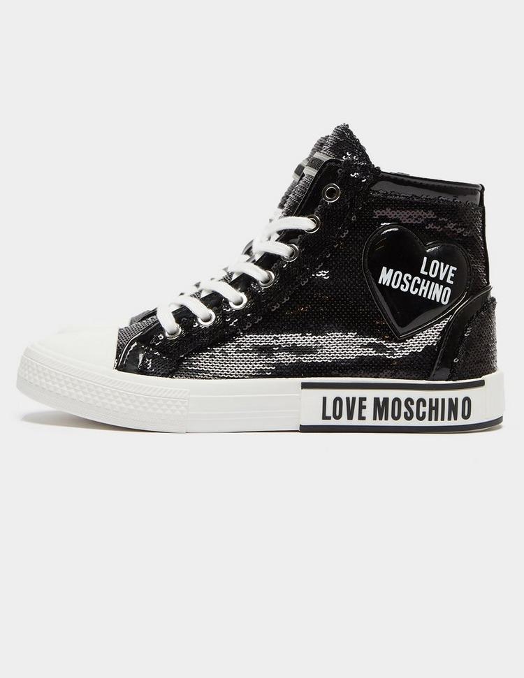 Love Moschino Glitter High Top Trainers