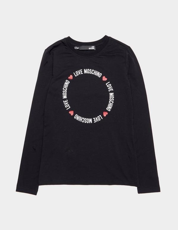 Love Moschino Circle Logo Long Sleeve T-Shirt