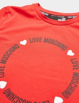 Love Moschino Circle Logo Short Sleeve T-Shirt