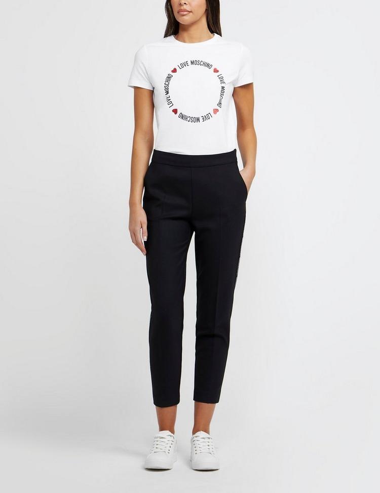 Love Moschino Circle Logo Short Sleeve T-Shirt