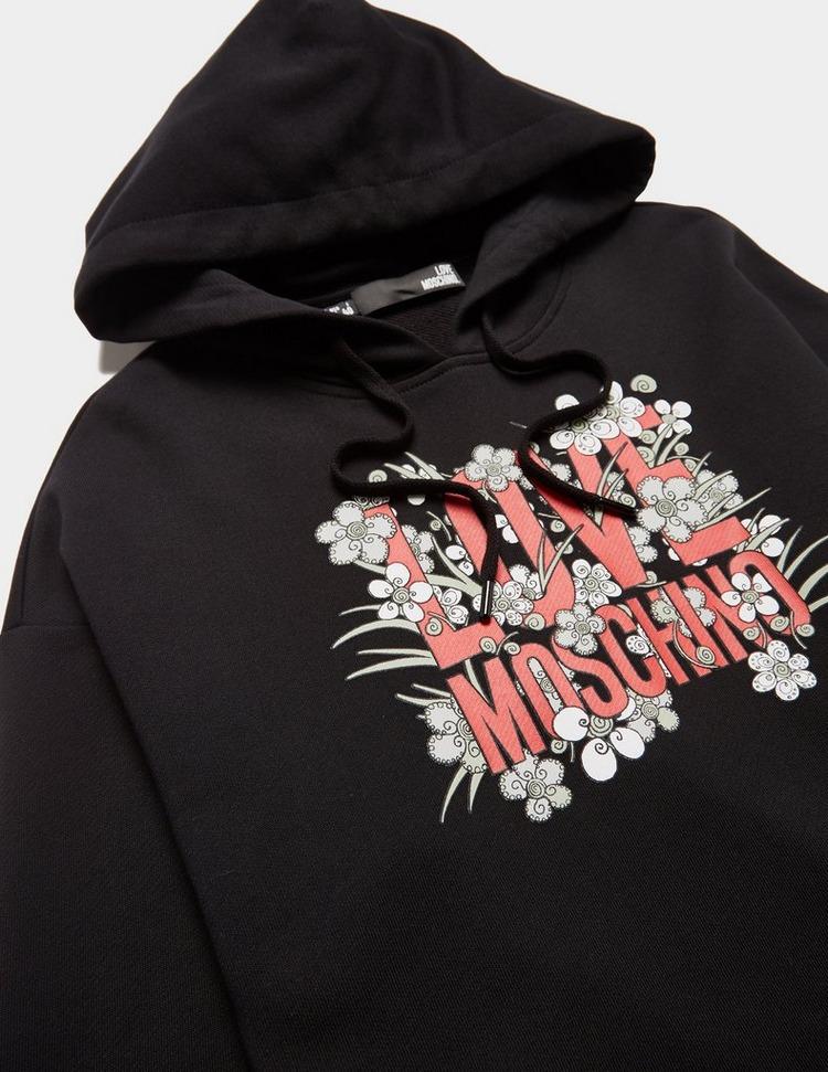 Love Moschino Flower Logo Hoodie