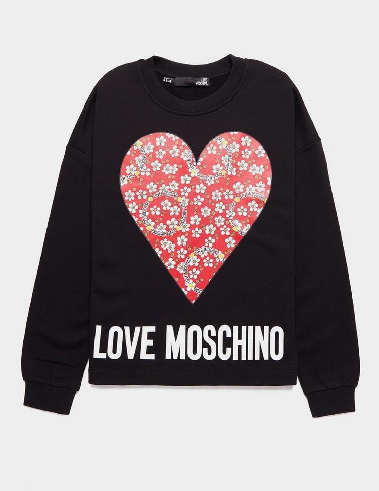Love Moschino Flower Heart Sweatshirt