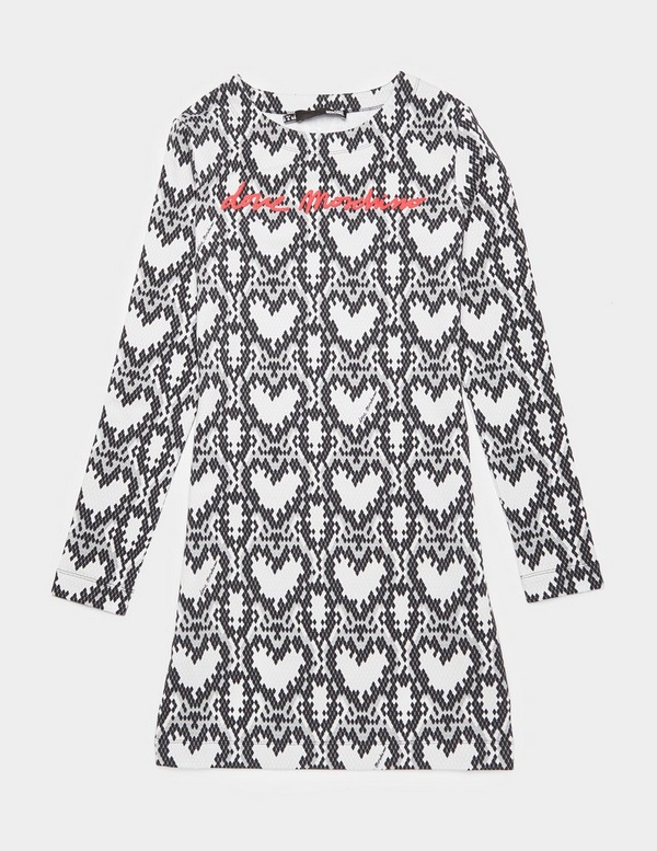 Love Moschino Snake Sweatshirt Dress