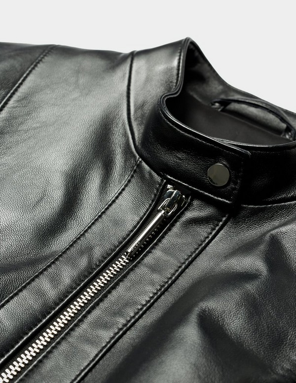 HUGO Lonia Zip Leather Jacket