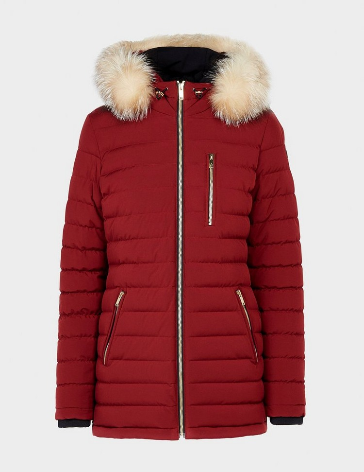 Moose Knuckles Rose Quilted Fur Jacket