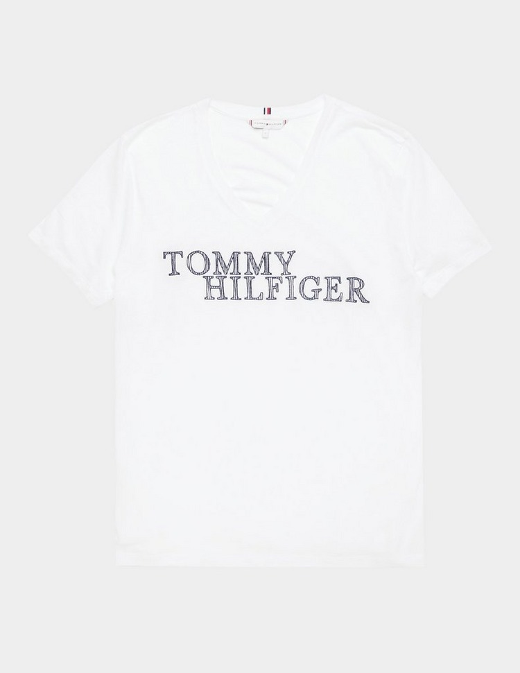 Tommy Hilfiger Woven V Neck Short Sleeve T-Shirt