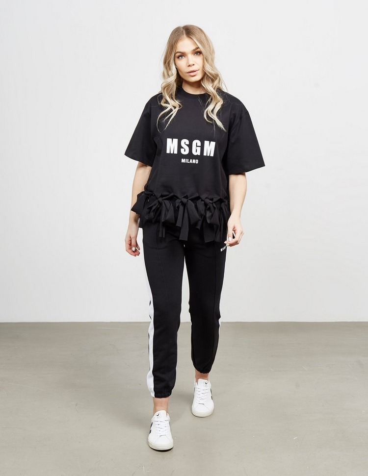 MSGM Ruffle Bow Short Sleeve T-Shirt