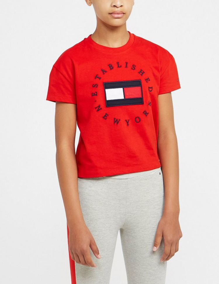 Tommy Hilfiger Girls' Heritage Logo T-Shirt Junior