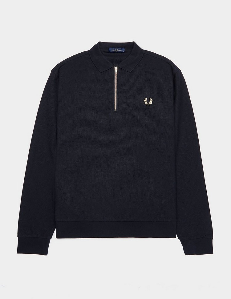 Fred Perry Gold Laurel Long Sleeve Polo Shirt - Exclusive