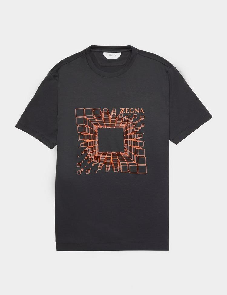 Z Zegna Cube Print Short Sleeve T-Shirt