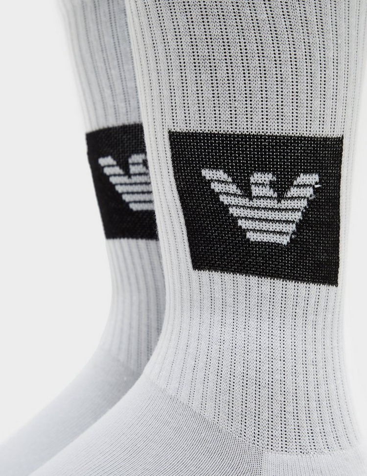 Emporio Armani 2 Pack Logo Socks