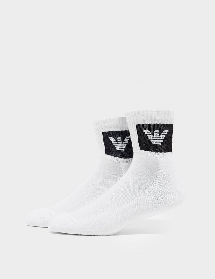 Emporio Armani Loungewear Patch Logo Quarter Socks