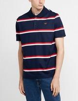 Paul and Shark Double Stripe Short Sleeve Polo Shirt