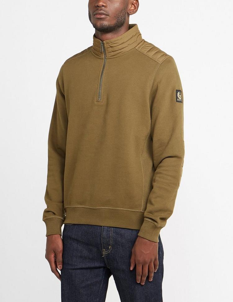 Belstaff Patch Quarter Zip Sweatshirt
