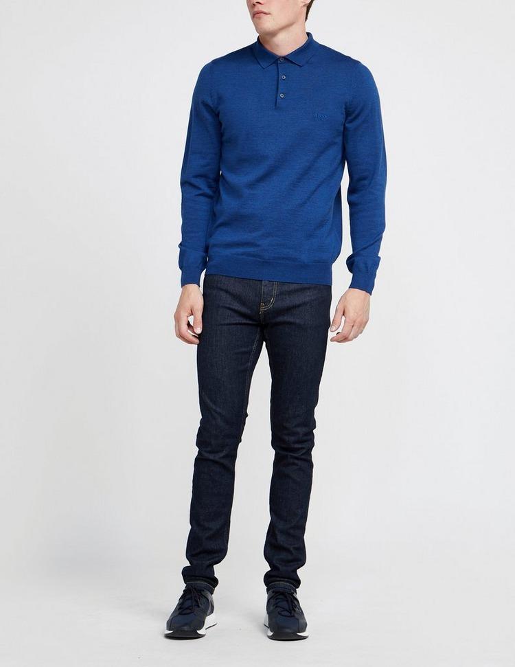 BOSS Bono Long Sleeve Knitted Polo Shirt