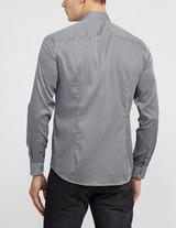 Emporio Armani Micro Print Long Sleeve Shirt
