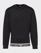 Emporio Armani Logo Hem Scuba Crew Neck Sweatshirt