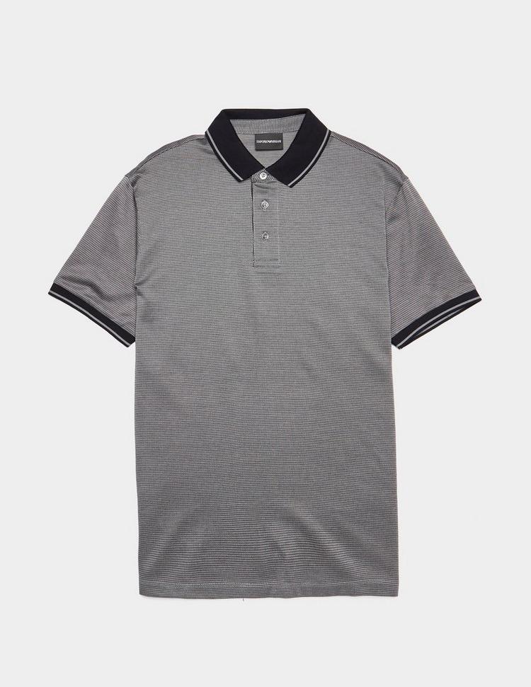Emporio Armani Micro Jacquard Short Sleeve Polo Shirt
