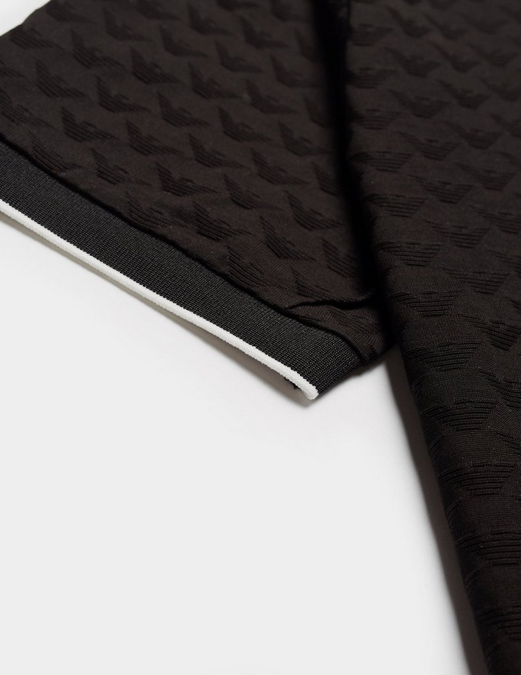 Emporio Armani Jacquard Eagle Short Sleeve Polo Shirt