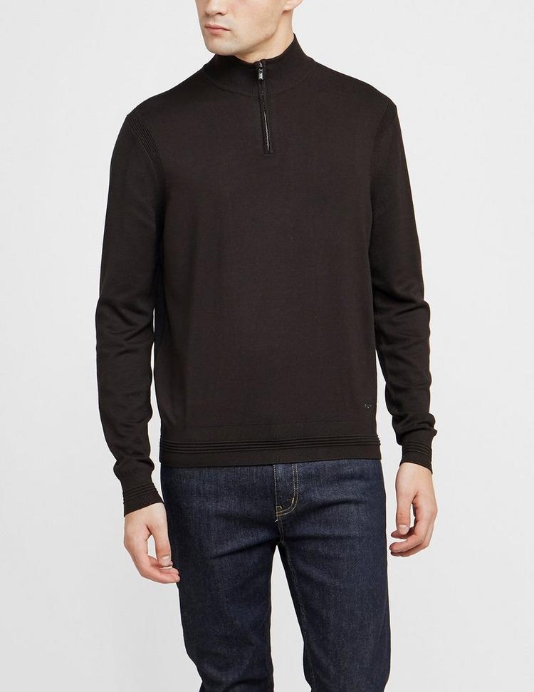 Emporio Armani Half Zip Knitted Sweatshirt