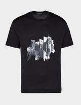 Emporio Armani Cut Up Eagle Short Sleeve T-Shirt