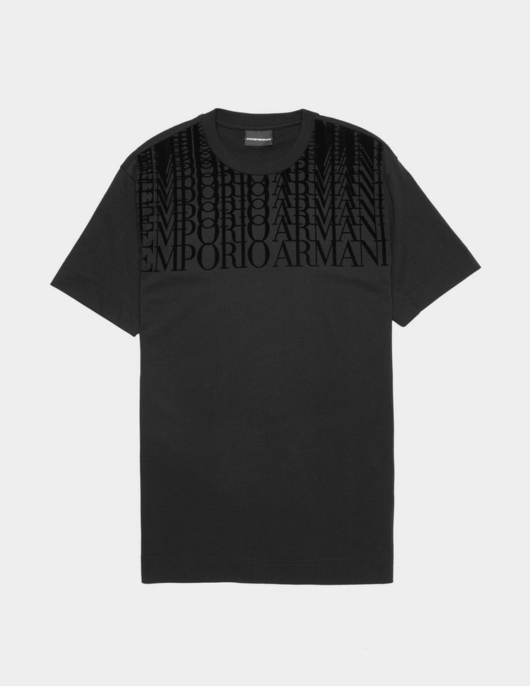 Emporio Armani Velour Logo Short Sleeve T-Shirt