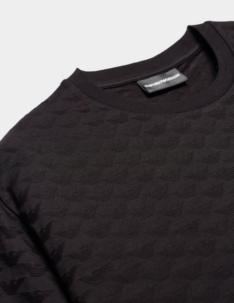Emporio Armani Jacquard Eagle Short Sleeve T-Shirt